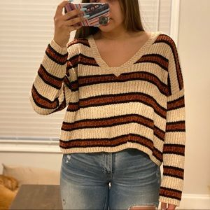 Super soft stripped sweater (barely worn)